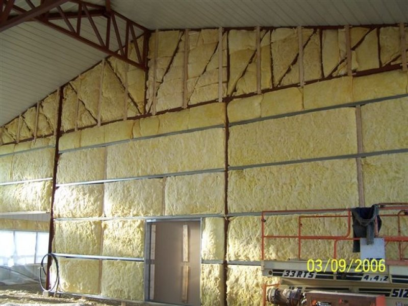spray foam in a barn